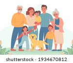 big family. happy parents ...   Shutterstock .eps vector #1934670812