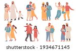families of different... | Shutterstock .eps vector #1934671145