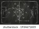 football tactic scheme. soccer... | Shutterstock .eps vector #1934671835