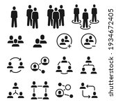 network group icons. social... | Shutterstock .eps vector #1934672405