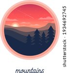 beautiful peaceful mountain...   Shutterstock .eps vector #1934692745