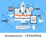 flat design vector illustration ... | Shutterstock .eps vector #193469846