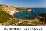 Lulworth Cove With A Drone