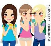Teenager Girl Crying While...