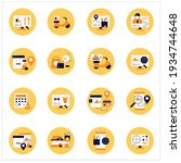 online food flat icons set.... | Shutterstock .eps vector #1934744648