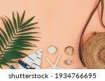 Tropical Palm Leaves  Straw Bag ...