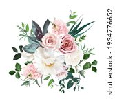 dusty pink and cream rose ... | Shutterstock .eps vector #1934776652