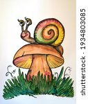 Illustration Of A Snail That Is ...
