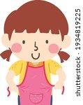 illustration of a kid girl...   Shutterstock .eps vector #1934819225
