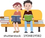 reading book person... | Shutterstock .eps vector #1934819582