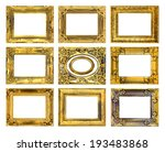 antique gold frame on the white ... | Shutterstock . vector #193483868