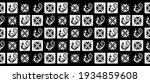 black and white tribal peacock... | Shutterstock .eps vector #1934859608
