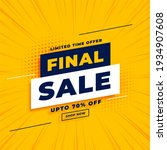 final sale yellow banner with... | Shutterstock . vector #1934907608