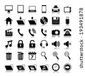media icons set | Shutterstock . vector #193491878