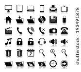 media icons set | Shutterstock . vector #193491878