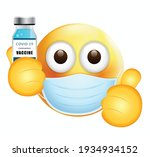 high quality emoticon on white... | Shutterstock .eps vector #1934934152