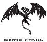 dragon flying  mythical beast... | Shutterstock .eps vector #1934935652