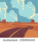 summer landscape with an empty... | Shutterstock .eps vector #1934941445