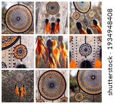 Collage Of Dream Catcher With...