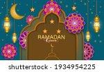 ramadan kareem vector... | Shutterstock .eps vector #1934954225