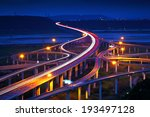 highway in night with cars... | Shutterstock . vector #193497128