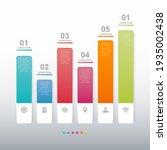 bar chart graph diagram...   Shutterstock .eps vector #1935002438