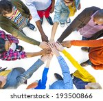 group of multiethnic diverse... | Shutterstock . vector #193500866