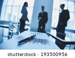 close up of business objects at ... | Shutterstock . vector #193500956