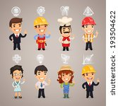 professions characters with... | Shutterstock .eps vector #193504622