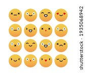 vector set of cute emoticons. | Shutterstock .eps vector #1935068942