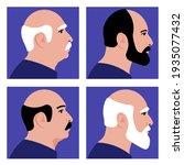 old men. portrait of different... | Shutterstock .eps vector #1935077432
