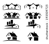 house roofs set for real estate ... | Shutterstock .eps vector #193509725