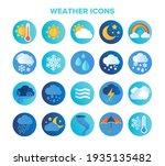 large set of circular blue...   Shutterstock .eps vector #1935135482