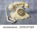 Old Vintage Telephone. Waiting...