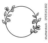 black line flowers leaves... | Shutterstock .eps vector #1935141302