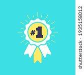 number  1 winner ribbon award... | Shutterstock .eps vector #1935158012