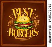 best burgers menu design  tasty ... | Shutterstock . vector #1935173012