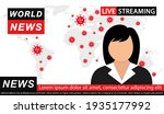 pandemic news. news anchor on... | Shutterstock .eps vector #1935177992