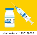 syringe with vaccine  medicine... | Shutterstock .eps vector #1935178028