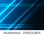 diagonal glowing lines on a... | Shutterstock .eps vector #1935212825