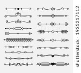 calligraphic ornament set....   Shutterstock .eps vector #1935217112