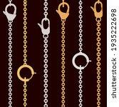 seamless pattern golden and...   Shutterstock .eps vector #1935222698