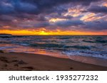 Sunrise Over The Sea. Long...