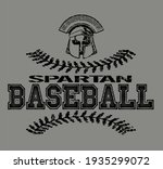 distressed spartan baseball...   Shutterstock .eps vector #1935299072