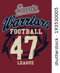 sports warriors football league ... | Shutterstock . vector #193530005