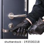 breaking into a steel door | Shutterstock . vector #193530218