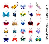 set of butterflies from... | Shutterstock .eps vector #193530815