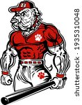 muscular bulldog baseball team...   Shutterstock .eps vector #1935310048