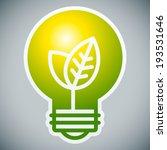 Ecology light bulb on grey background - stock vector