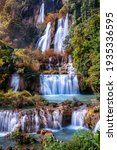 Small photo of Thi Lo Su waterfall(Tee Lor Su) in Tak province. Thi Lo Su waterfall the largest waterfall in Thailand.